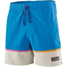 "Patagonia Stretch Wavefarer Volley Shorts 16"" Men, bottom leg stripe/joya blue"